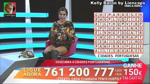 Kelly Baron sensual no programa 1000 à hora