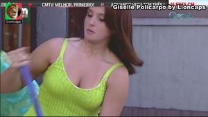 Giselle Policarpo sensual na novela Cristal